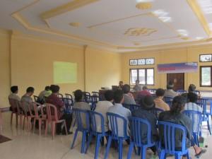 Sosialisasi KKP di Kantor Perbekel Desa Melaya Jumat, 3 Oktober 2013