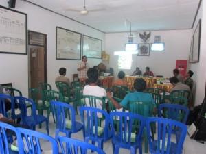 Sosialisasi KKP di Kantor Perbekel Desa Perancak, Rabu, 2 Oktober 2013